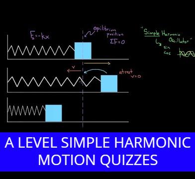 A level Simple Harmonic Motion Quizzes