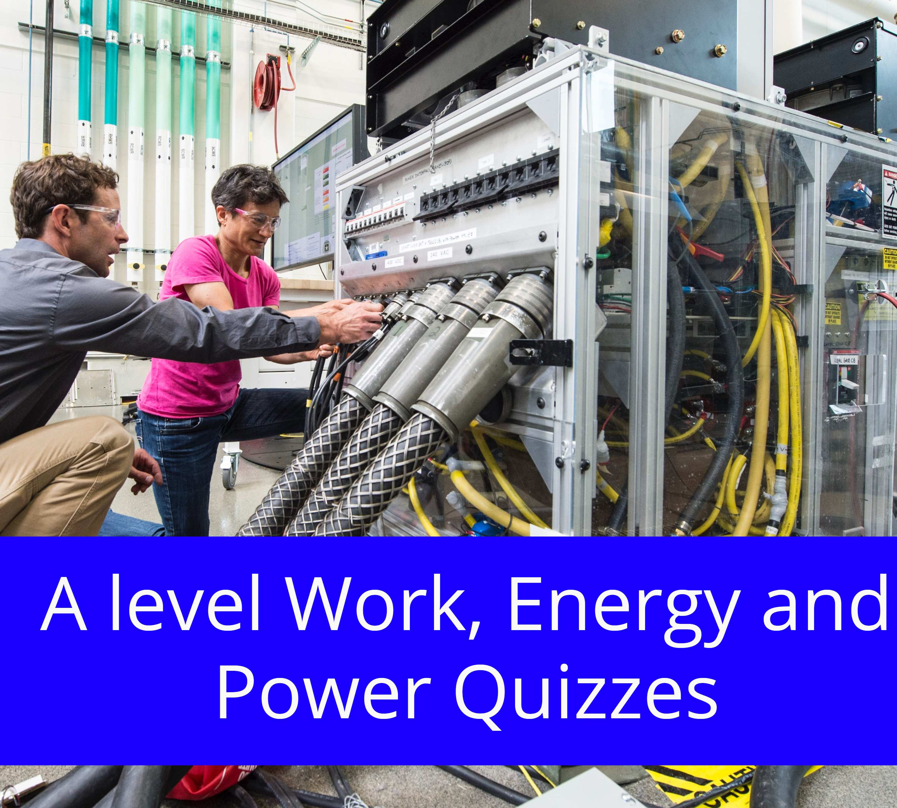A level Work, Energy and Power Quizzes