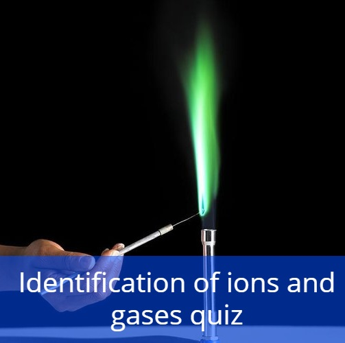 Identification of ions and gases quiz