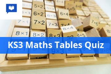 KS3 Maths Tables quiz